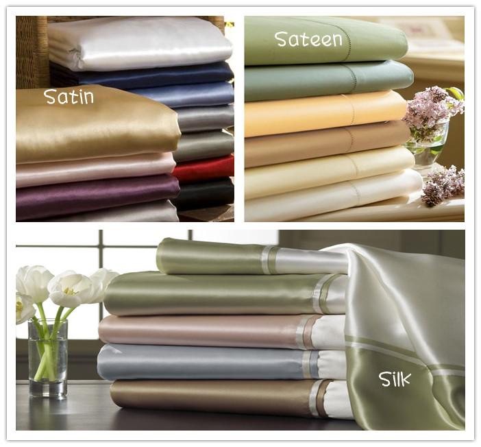 Silk Vs Satin Pillowcase Magnificent Satin Sateen And Silk Sheets