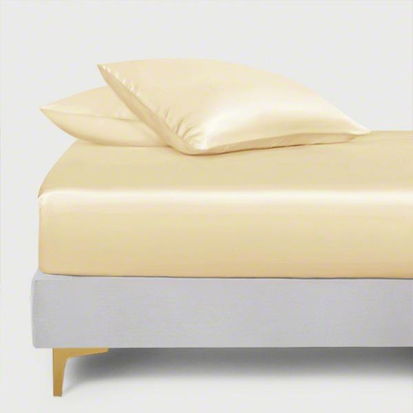 Cream Silk Fitted Sheet