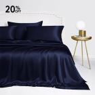 Navy Housewife Silk Pillowcase