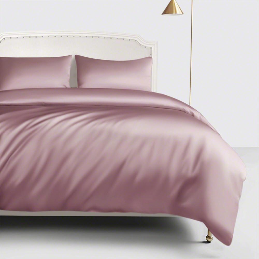 Dusty Rose Silk Duvet Cover