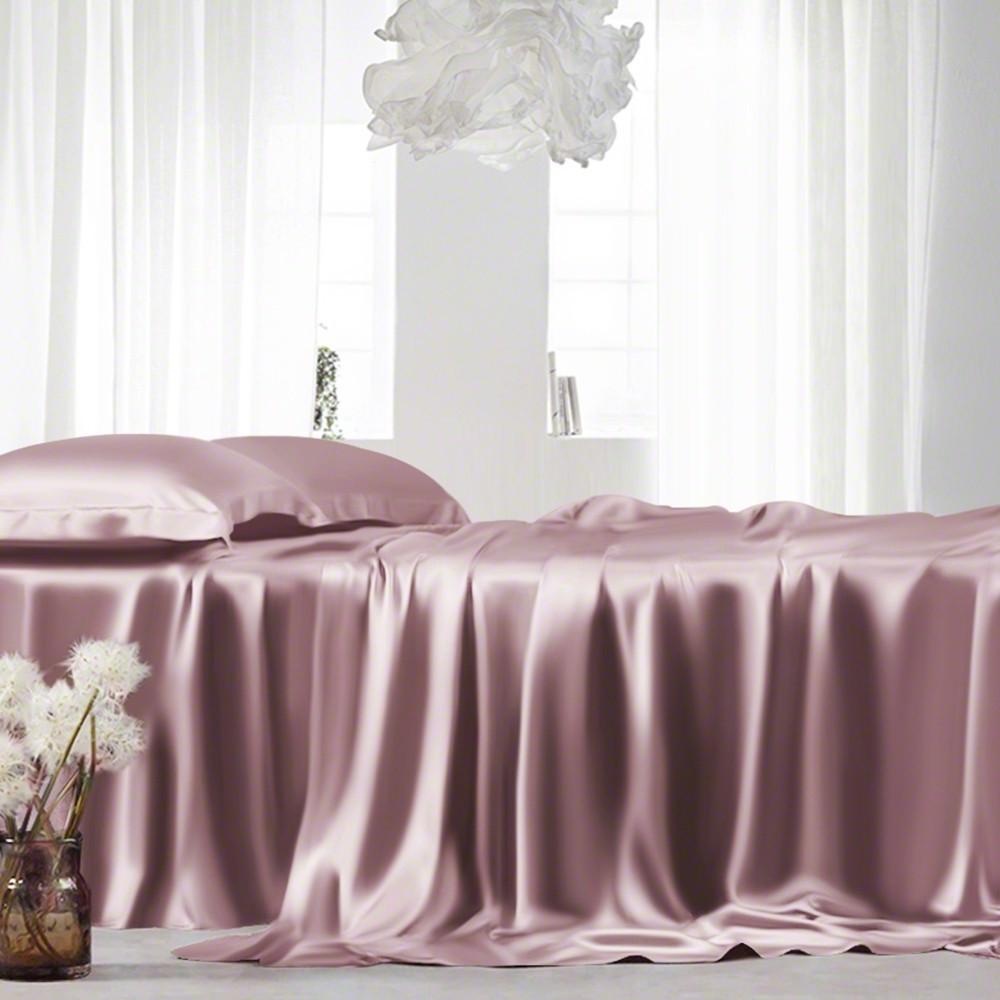 Dusty Rose Silk Flat Sheet