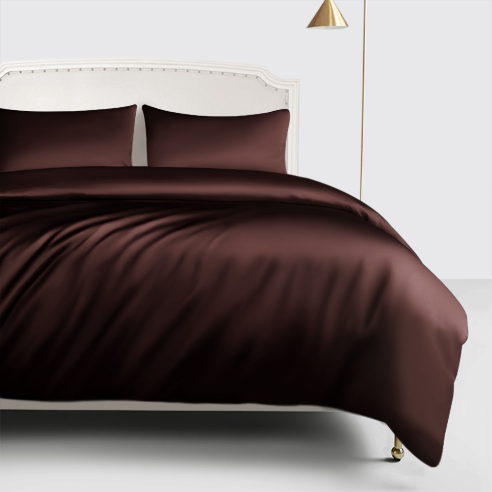 espresso silk duvet cover. Black Bedroom Furniture Sets. Home Design Ideas