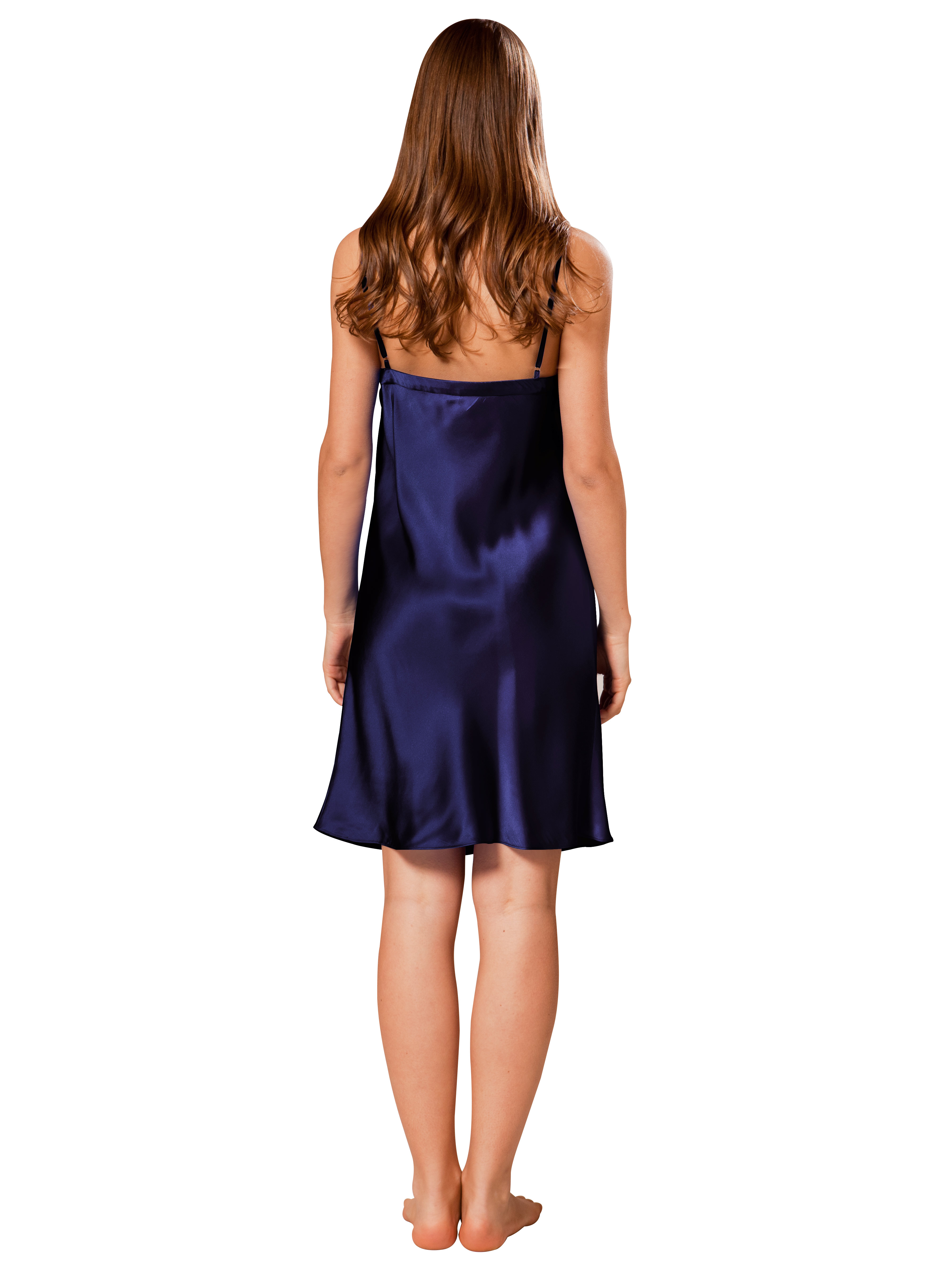 Mulberry Silk Slip For Women 85 Navy Blue