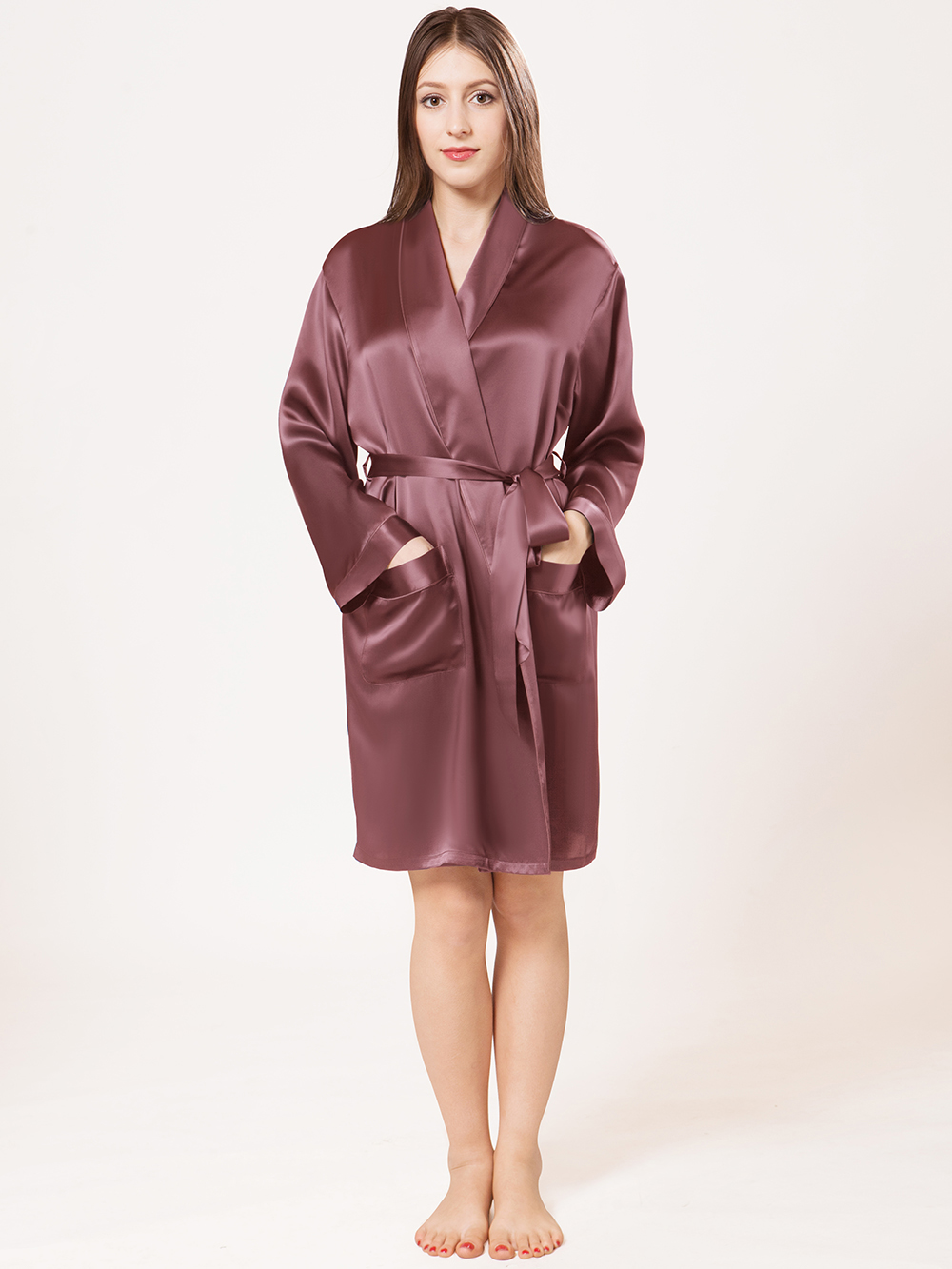 Raisin Silk Robes Sw46blu