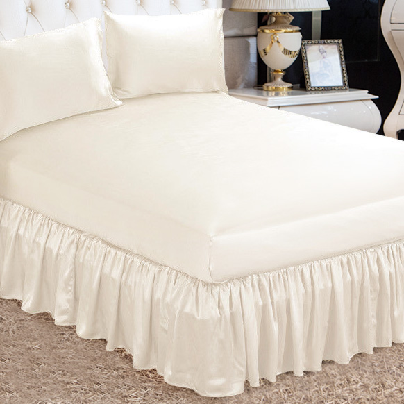 100 Pure Mulberry Silk Bed Skirt Machine Washable