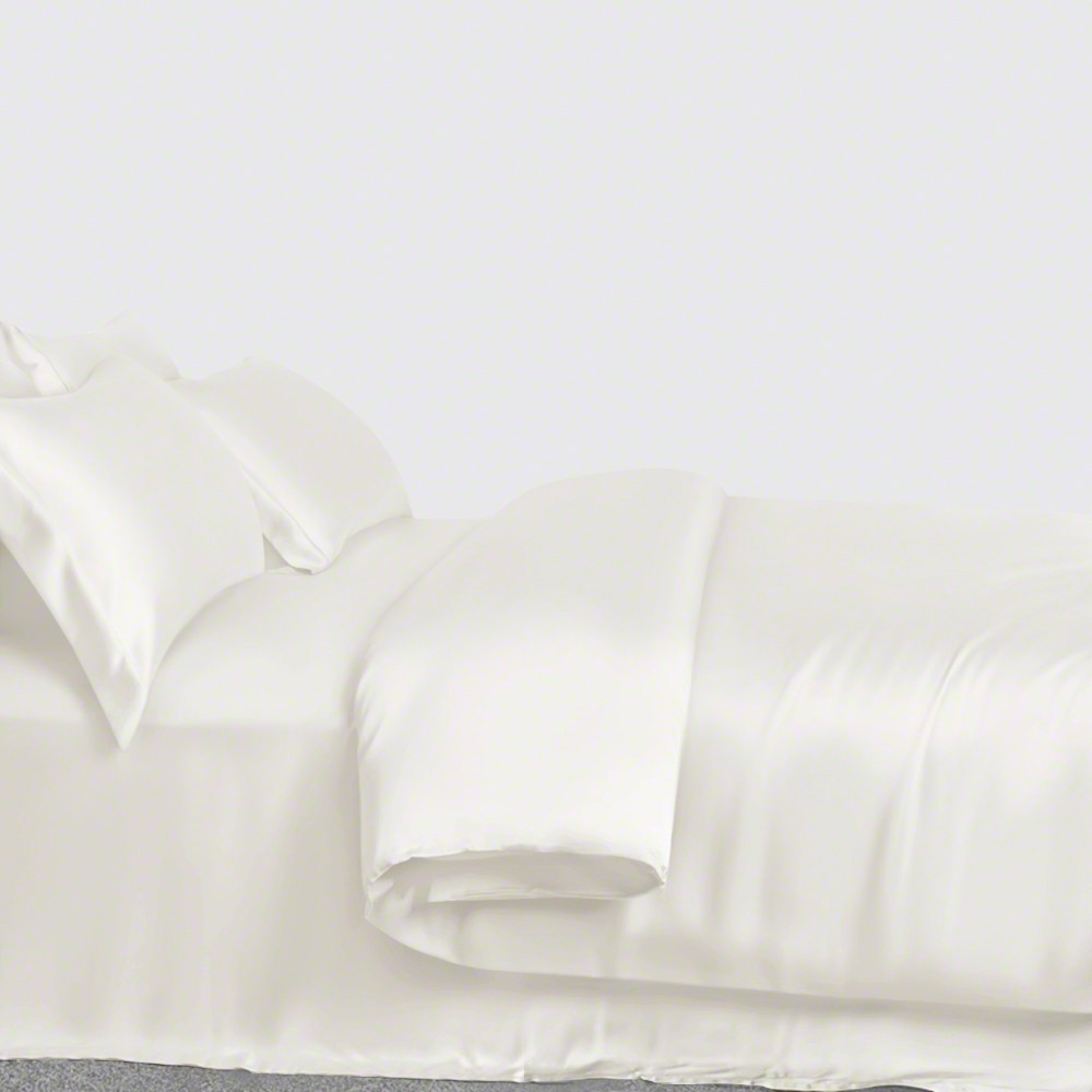 Jasmine Silk Pure Silk Fitted Sheet -SUPER KING Ivory