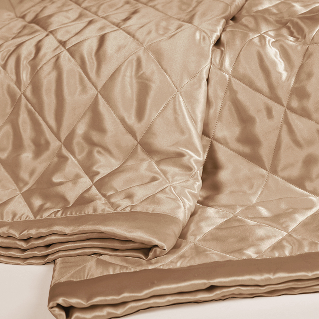 Cappuccino Silk Coverlet From Top Quality Mulberry Silk