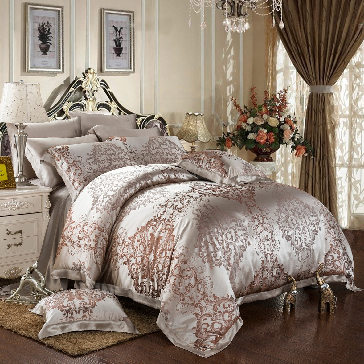 Silk Duvet Cover Set Of Pure Mulberry Silk Cafe