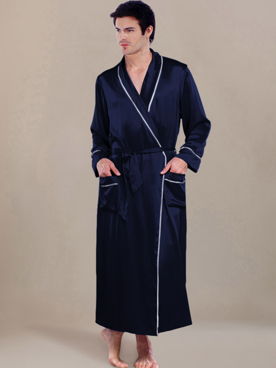 Classic Silk Robes Sw08navy