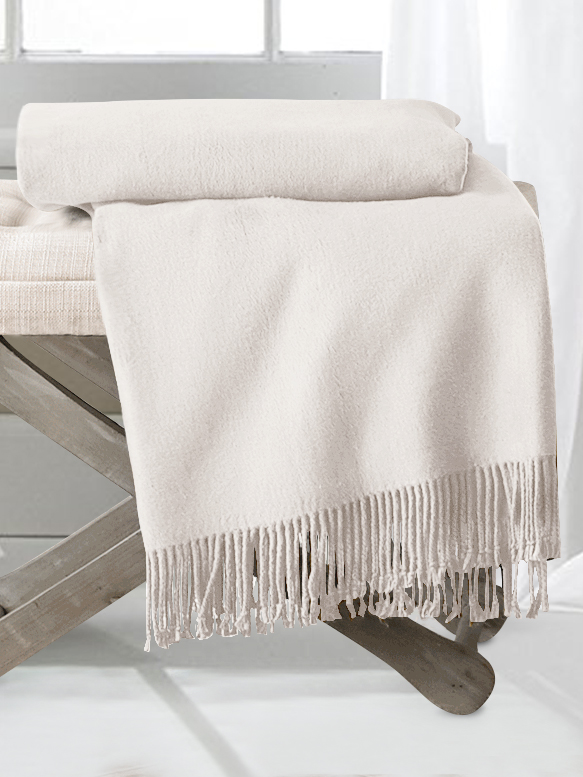 Ivory Silk Throw Blankets From Pure Mulberry Silk