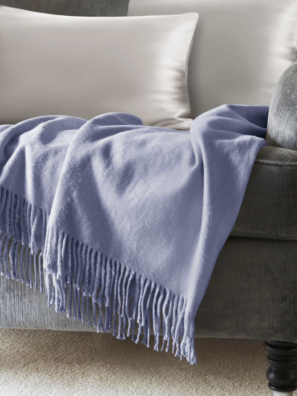 Lavender Silk Throw Blankets From Pure Mulberry Silk