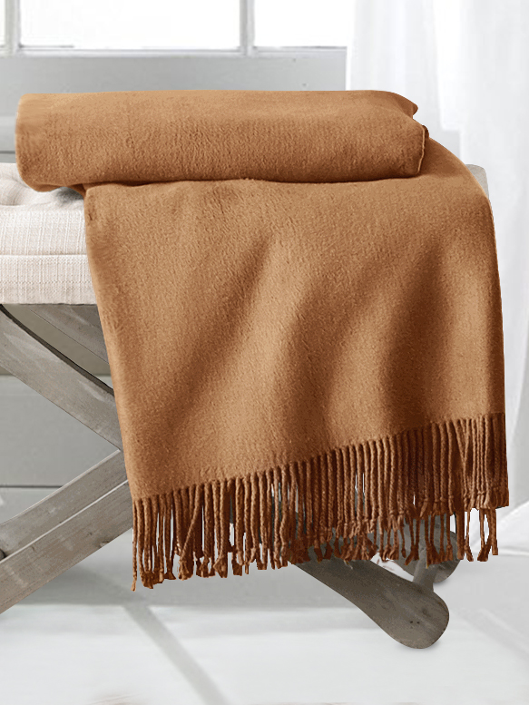 Camel Silk Throw Blankets From Pure Mulberry Silk