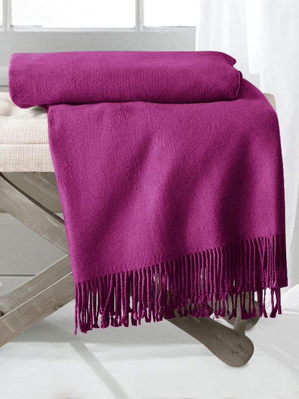 Violet Silk Throw Blankets From The Finest Mulberry Silk