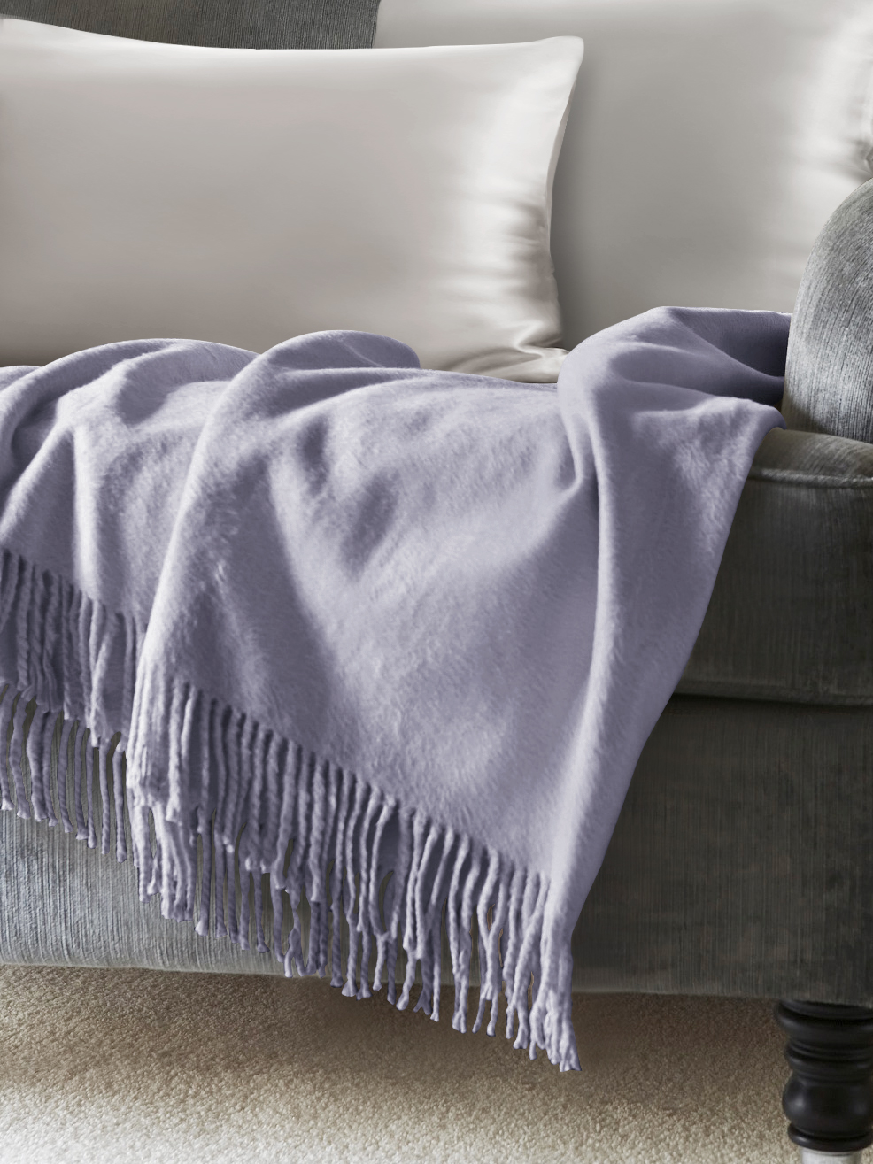 Blue Silk Throw Blankets From Mulberry Silk