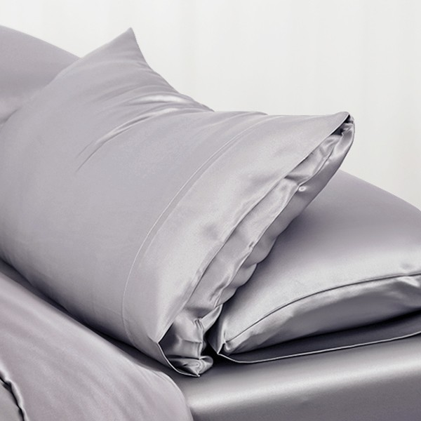 Discount Pure Mulberry Silk Pillowcase Silver Gray